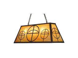 Meyda Tiffany Circle Cross Nine-Light Oblong Pendant Light