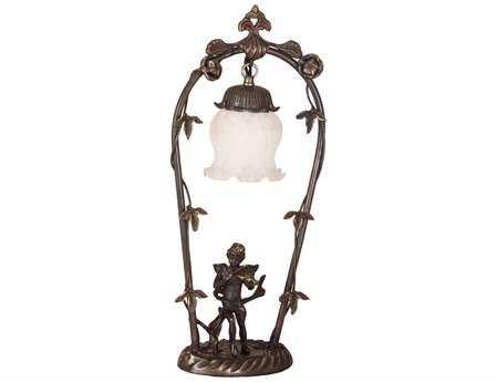 Meyda Tiffany Cherub with Violin White Accent Table Lamp