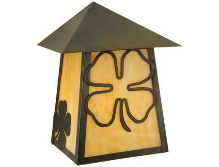 Meyda Tiffany Stillwater Shamrock Outdoor Wall Light