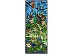 Meyda Tiffany Woodland Lilypond Stained Glass Window