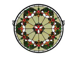 Meyda Tiffany Middleton Medallion Stained Glass Window