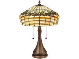 Meyda Tiffany Duffner & Kimberly Raised Tulip Multi-Color Table Lamp