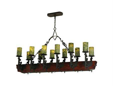 Meyda Tiffany Tudor Jadestone 15-Light LED Grand Chandelier