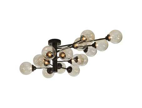 Meyda Tiffany Galaxy Oblong 15-Light 64'' Wide Flush Mount