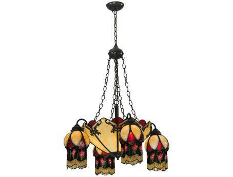 Meyda Tiffany Isabella 4 Arm Eight-Light 29 Wide Grand Chandelier