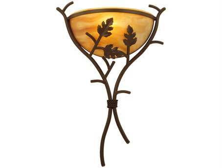 Meyda Tiffany Oak Branch Wall Sconce