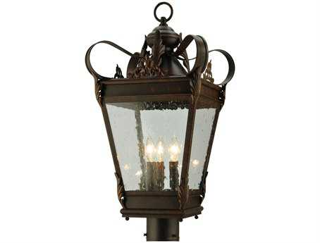 Meyda Tiffany Verona Three-Light Outdoor Post Mount Light