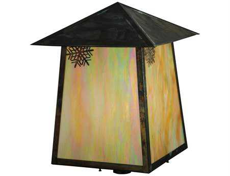 Meyda Tiffany Stillwater Snowflake Bai Vintage Outdoor Post Mount Light