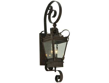 Meyda Tiffany Verona Three-Light Outdoor Wall Light Lantern