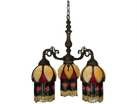 Meyda Tiffany Isabella 3 Arm Three-Light 20 Wide Mini Chandelier
