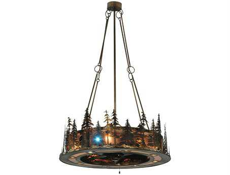 Meyda Tiffany Tall Pines LED Spotlight Four-Light Chandel-Air
