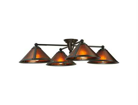 Meyda Tiffany Van Erp Four-Light Flush Mount Light