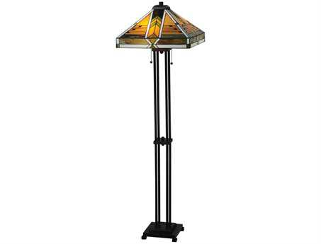 Meyda Tiffany Abilene Multi-Color Floor Lamp