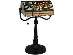 Meyda Tiffany Vineyard Multi-Color Banker's Lamp