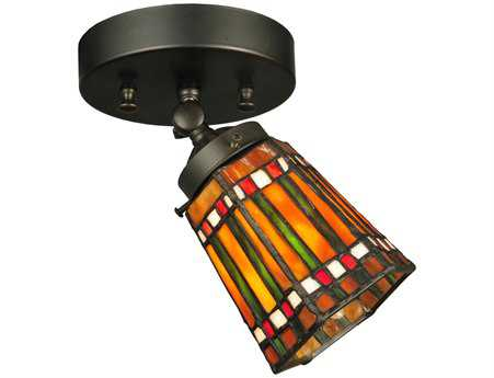 Meyda Tiffany Prairie Corn Swing Arm Flush Mount Light