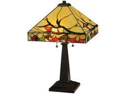 Meyda Tiffany Woodland Berries Multi-Color Table Lamp