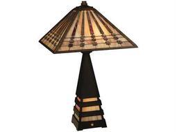 Meyda Tiffany Ra Lighted Base Multi-Color Table Lamp