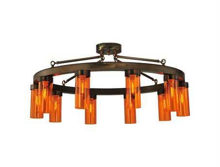 Meyda Tiffany Clark Ten-Light Semi-Flush Mount Light
