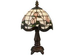 Meyda Tiffany Roseborder Multi-Color Mini Lamp