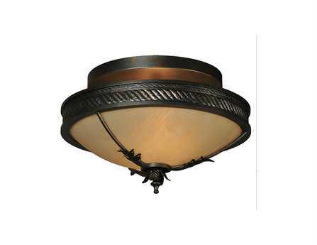 Meyda Tiffany Hoja Two-Light Semi-Flush Mount Light
