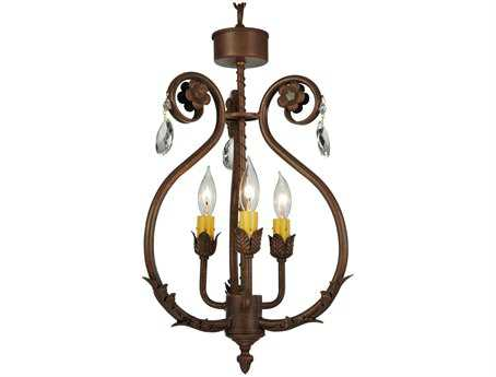 Meyda Tiffany Antonia Three-Light 12 Wide Mini Chandelier