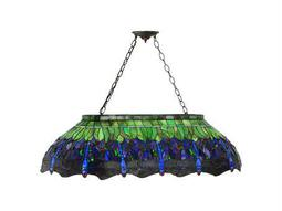 Meyda Tiffany Hanginghead Dragonfly Six-Light Oblong Pendant