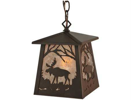 Meyda Tiffany Moose At Dawn Hanging Outdoor Light