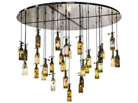 Meyda Lighting Tuscan Vineyard Satin Clear 72'' Wide Pendant Light