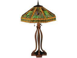 Meyda Tiffany Harvard Multi-Color Table Lamp
