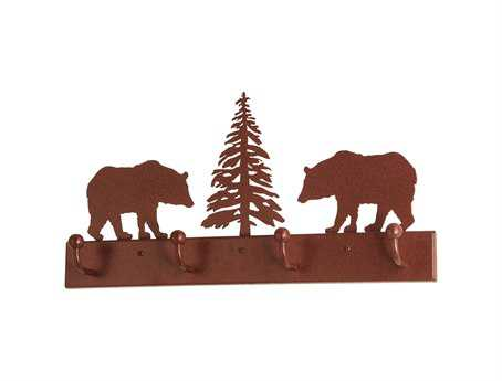 Meyda Tiffany Bear On The Loose 4 Hooks Coat Rack