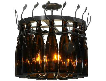 Meyda Tiffany Tuscan Vineyard Estate 16 Wine Bottle 12-Light 20 Wide Mini Chandelier