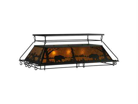 Meyda Tiffany Wildlife At Pine Lake Three-Light Pot Rack