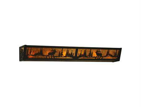 Meyda Tiffany Elk At Lake Six-Light Vanity Light