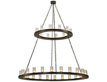 Meyda Tiffany Loxley 2 Tier 36-Light 72 Wide Grand Chandelier