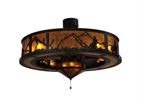 Meyda Tiffany Duke 11-Light Chandel-Air with Fan Light