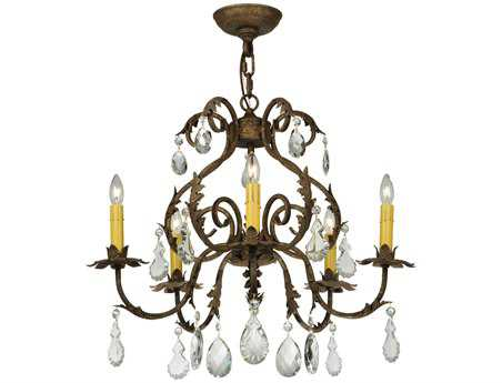 Meyda Tiffany Chantilly Five-Light 24 Wide Mini Chandelier