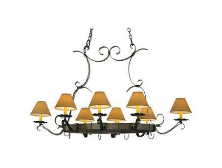 Meyda Tiffany Laramie Hand Forged Eight-Light Pot Rack