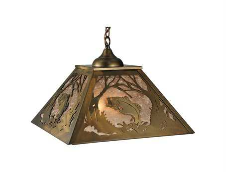 Meyda Tiffany Northwood's Leaping Bass Two-Light Pendant
