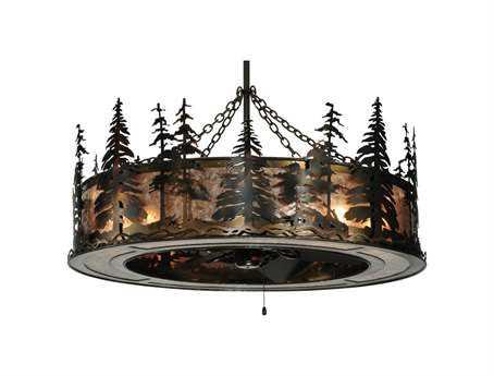 Meyda Tiffany Tall Pines 12-Light Chandel-Air
