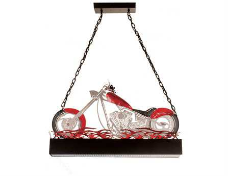 Meyda Tiffany Motorcycle Oblong Two-Light Pendant