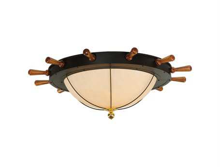 Meyda Tiffany Nautical 12-Light Flush Mount Light
