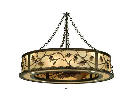 Meyda Tiffany Oak Leaf & Acorn 16-Light Chandel-Air