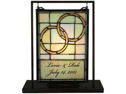 Meyda Tiffany Personalized Wedding Lighted Mini Tabletop Window