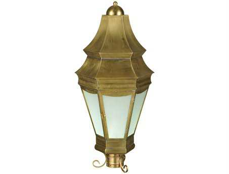 Meyda Tiffany Statesboro Clear Ripple Brass Outdoor Post Mount