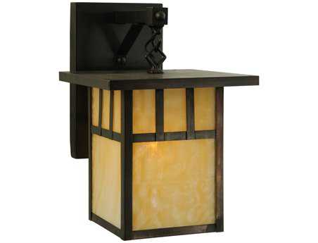 Meyda Tiffany Hyde Park Double Bar Mission Straight Arm Outdoor Wall Light