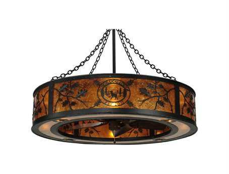 Meyda Tiffany Personalized Black Dog Lodge Eight-Light Chandel-Air