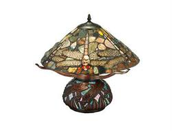Meyda Tiffany Dragonfly Cut Jasper Multi-Color Table Lamp