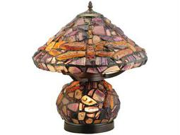 Meyda Tiffany Dragonfly Jadestone Multi-Color Table Lamp