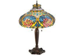 Meyda Tiffany Dragonfly Rose Multi-Color Table Lamp