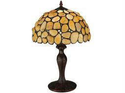 Meyda Tiffany Jasper Yellow Table Lamp